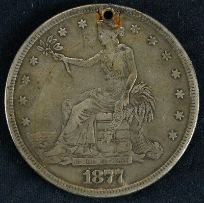 1877 S Seated Liberty Trade Dollar $ Vf Very Fine