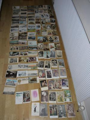 Interesting Collection Of 113 Foreign Vintage Postcards Most Pre 1929