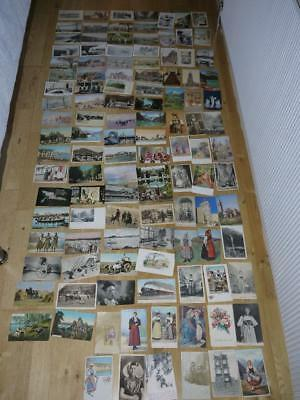Interesting Collection Of 114 Foreign Vintage Postcards Most Pre 1925