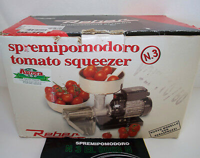 Electric Tomato Squeezer with 0.3 HP Made in Italy by Reber