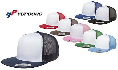Yupoong Classic Trucker SNAPBACK White Panel Cap Hat blank