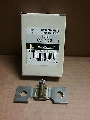 Square D  Overload Relay Thermal Unit -  Cc132  - New (Box Of 6)