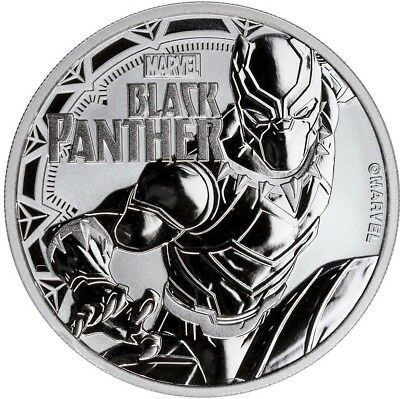 BLACK PANTHER - MARVEL SERIES - 2018 1 oz Pure Silver Coin - Tuvalu - Perth Mint