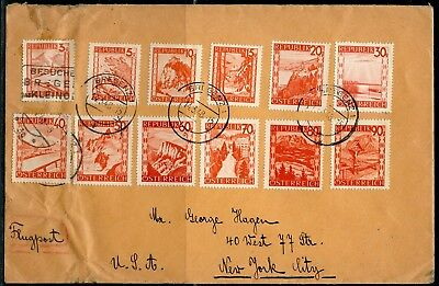 Austria Bregenz 1948  Covers To New York City Great Frankng