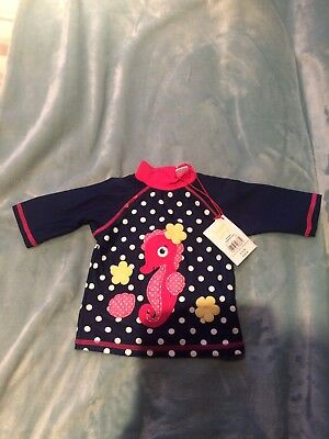 Baby Girls 6-9 Months- Swimsuit Sun Top UPF 40+ Mini Club - New With Tag