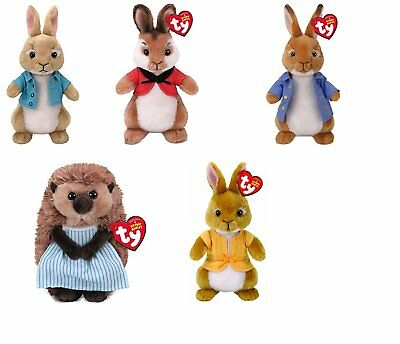 "TY Beanie Baby 6"" Cottontail Flospy Mopsy Peter Rabbit Mrs Tiggy Winkle Plush"
