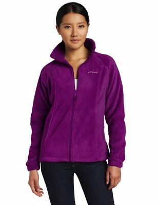NWT Columbia Women's Benton Springs Full Zip Plum Color XL Fleece Jacket
