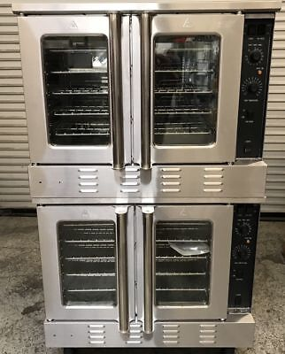 NEW Convection Oven Double Stack Gas Black Diamond #7524 NSF On Wheels Bakery