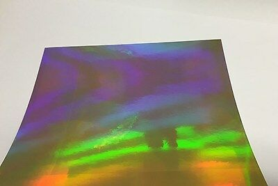 "GOLD Overall / Oil Slick / Rainbow / Holographic Sign Vinyl 12"" x 10 ft Free S&H"