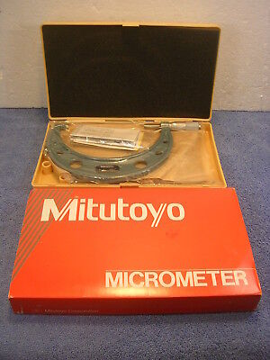 "MITUTOYO No. 103-118 5-6"" .0001"" Outside Micrometer NEW NOS Factory Sealed"