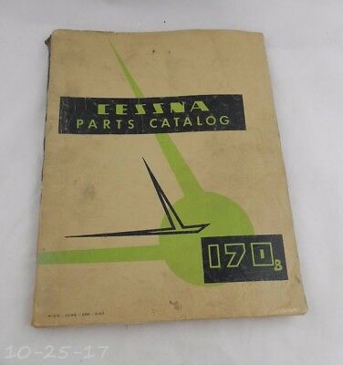 1956 Cessna 170 b Parts Manual Catalog