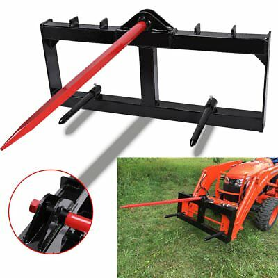 """49"""" Tractor Hay Spear Attachment 3000 lb Capacity Skid Steer Loader Quick Tach"""