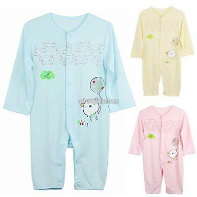 Baby Infant Romper Sleep Jumpsuit Clothing Long Sleeve Coverall 3-12 N98B 01
