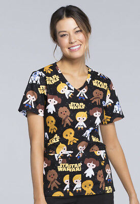a9f845dd864 Tooniforms Disney Star Wars Scrub Top Good Guys TF625 SRGG Cherokee Space  Solo
