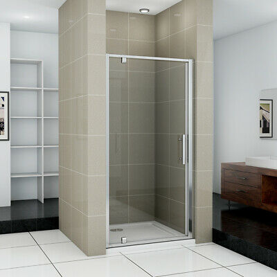 Framed Pivot Shower Door Enclosure Cubicle Glass Screen 700/760/800/900/1000mm