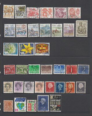 Switzerland & the Netherlands - 36 used stamps  ( Lot 104 )