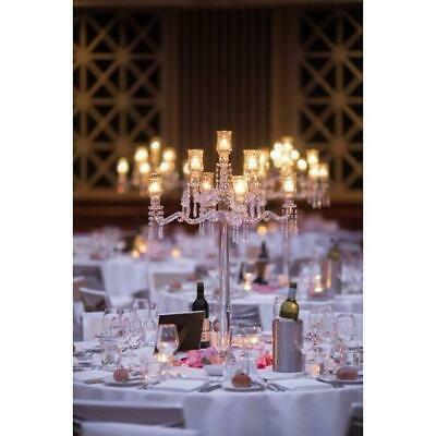 Crystal Candelabra 86cm Height 9 Heads Glass Candle Holder Wedding Functions