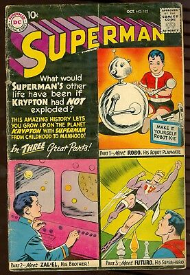 DC Comics Superman 132 GD Condition