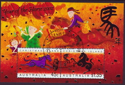 Australia/Christmas Is. 2002 Lunar Year of the Horse M/S - 1st day Cancellation