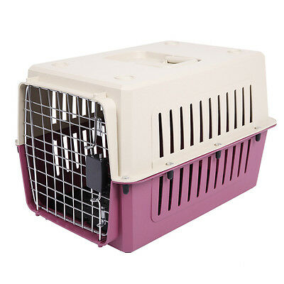 "20In Puppy Cat & Dog Portable Travel Plastic Crate Pet Carrier Box 20""x14""x14"""