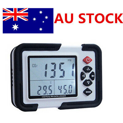 AU New USB CO2 Carbon Dioxide Air Temperature Humidity Data Logger Meter Monitor