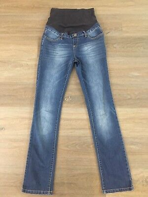 Ladies size 8 Blue TARGET Maternity Skinny denim jeans -*Great Con*