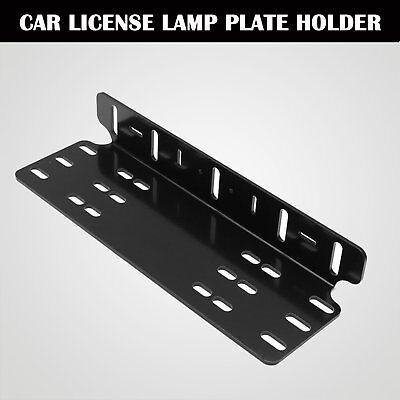 License Number Plate Frame Holder Bull Bar Bumper Mount Light LED Bracket GU