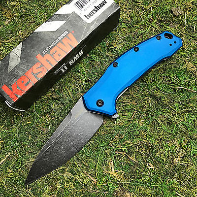 Kershaw Link 420HC Assisted Opening Blue Handle Tactical Knife 1776NBBW New!