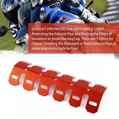 Aluminum Motorcycle ExhAust Muffler Pipe Protector Heat Shield Cover Orange GU