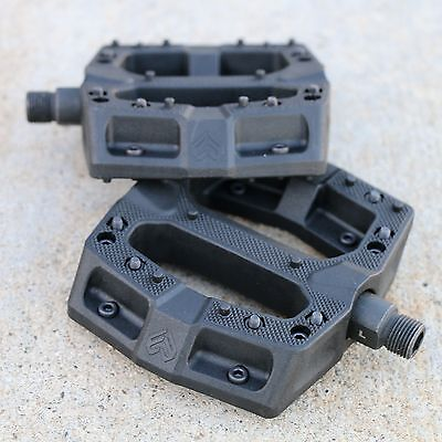"ECLAT BMX BIKE SURGE ALLOY BICYCLE 9//16/"" BLACK SEALED PEDALS FIT ODYSSEY SHADOW"