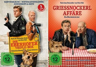 4 DVDs * EBERHOFER - 4 FILME SET (TRIPLE BOX + GRIESSNOCKERLAFFÄRE) # NEU OVP %