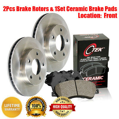 For 2005-2006 Dodge Ram 1500 Front Rear Semi-Metallic Brake Pads