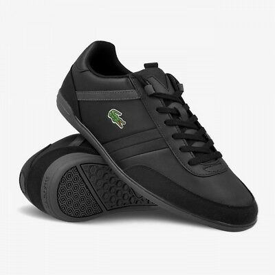 0ff0c63198d7b7 Lacoste Giron 316 SPM Mens Black Leather Trainers Shoes Size UK 6 -11