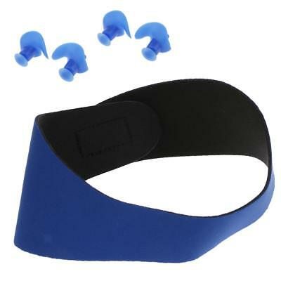 Unisex Adult Kids Swimming Bathing Headband and 2 Pair Water Sports Earplugs