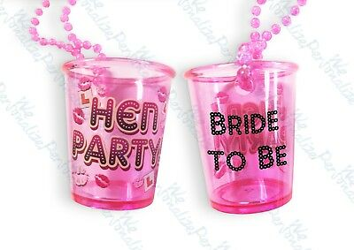 1 Of 2free Shipping Bride To Be Hen Night Party Do Shot Gl Gles Pink Necklace S Out