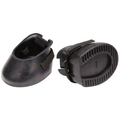Tough-1 Hoof Guard Boots Replacement for Lost Horseshoe Black Pair