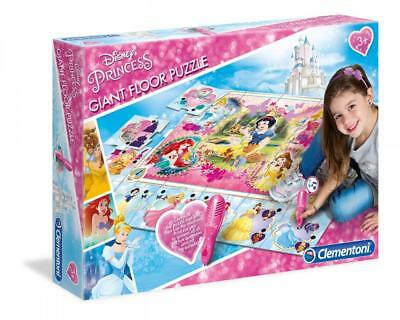 Clementoni 61624 Disney Princess Interactive Giant Floor Puzzle Mat with Pen New