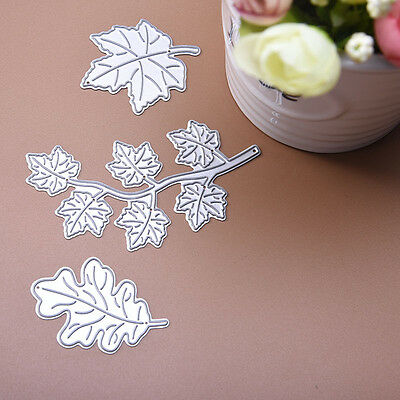 Maple Leaf Dies Metal Cutting Stencil For Scrapbooking Gifts Paper Decor Cards