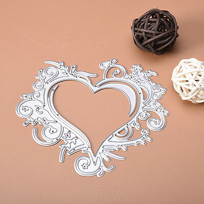 Lace Heart Metal Cutting Dies Stencil For Scrapbooking Paper Card Embossing DIY
