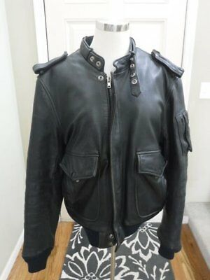 Vtg Hein Gericke Hondaline Black Leather Cafe Racer Motorcycle Jacket 42 Nice
