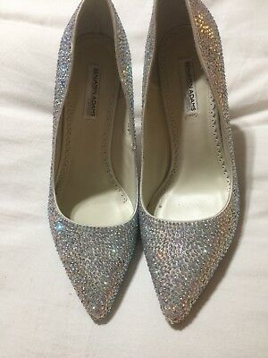 Benjamin Adams Jada Swarvoski Crystal Bridal Shoes US 9