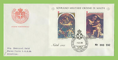 Malta 1983 Sovreign Military Order 05.12.1983 Christmas M/S First Day Cover