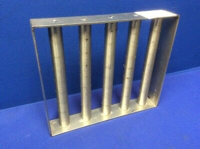 "Stainless Steel Magnetic Separator Grate 12"" X 10"" X 2"" W/(5) 1""Dia. X 10""L Rods"