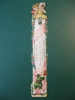 Antique bookmark W W WINTER'S ELECTRIC LIGHT STUDIO Derby photography book mark