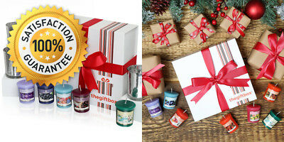 A Luxurious Scented Candle Gift Set by The Box Containing 8 Beautifully...