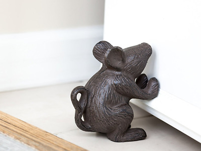 Cast Iron Mouse Rustic Door Stop, New, Free Shipping