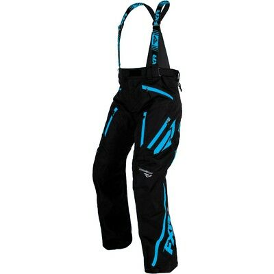 FXR Mission X 2017 Mens Snowmobile Bibs Black/Blue