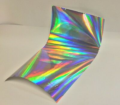 "Oil Slick -Rainbow Holographic Sign Vinyl 24"" x 10 feet, Sticky Plastic Free S&H"