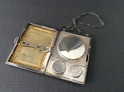 Antique Sterling Silver Change Purse / Coin Purse / Victorian /Compact Card Case