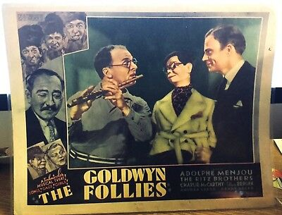 "The Golden Follies 1938 * The Ritz Brothers, Adolphe Menjou Lobby Card 11"" By 14"